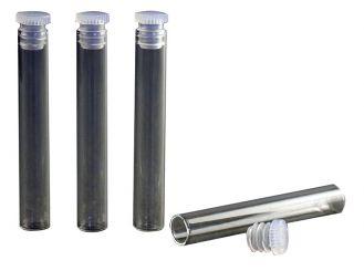 Flachbodengläser, Klarglas, 52,5 x 8 mm, mit glattem Rand und Lamellenstopfen 1x300 Stück