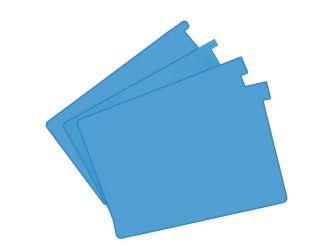 Signalkarten A5 blau TAB: 10 mm hoch 1x100 Stück