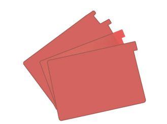 Signalkarten A5 rot TAB: 20 mm hoch 1x100 Stück
