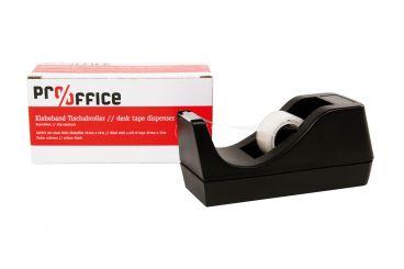 Tischabroller, schwarz, inkl. 1 Rolle Klebefilm 19 mm x 10 m 1x1 Stück