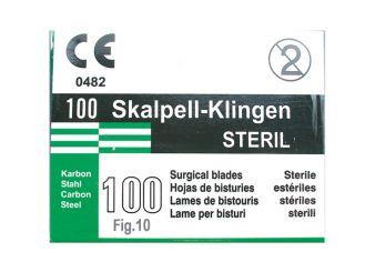 Einmal-Skalpellklingen Gr. 10 1x100 Stück