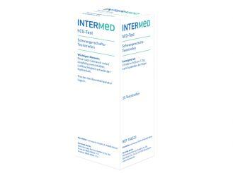 INTERMED hCG-Teststreifen, lose verpackt in der Spenderdose, 1x25 Teste