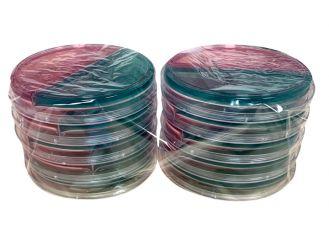 CLED-MacConkey-Nährboden Nr.3 Kombiplatte, 1x10 Stück