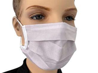 Mehrweg Behelfsmaske, weiß 1x1 Stück
