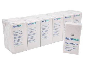 INTERMED Taschentücher, 4-lagig, hochweiß 18x10 Stück