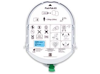 Defibrillator Pad-Pak für Erwachsene und Kinder >8 Jahre > 25kg 1x1 Stück
