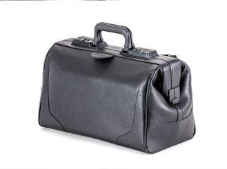 Arzttasche Rusticana, Rindleder, schwarz, 1 Vortasche, Großformat 1x1 Stück