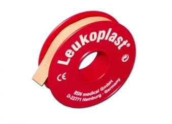 Leukoplast® Rollenpflaster 5m x 1,25 cm hautfarben ohne Schutzring 1x24 Rollen